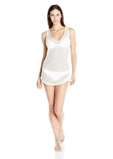 Kensie Women's Lace Cover up Dress with Adjustable Sides