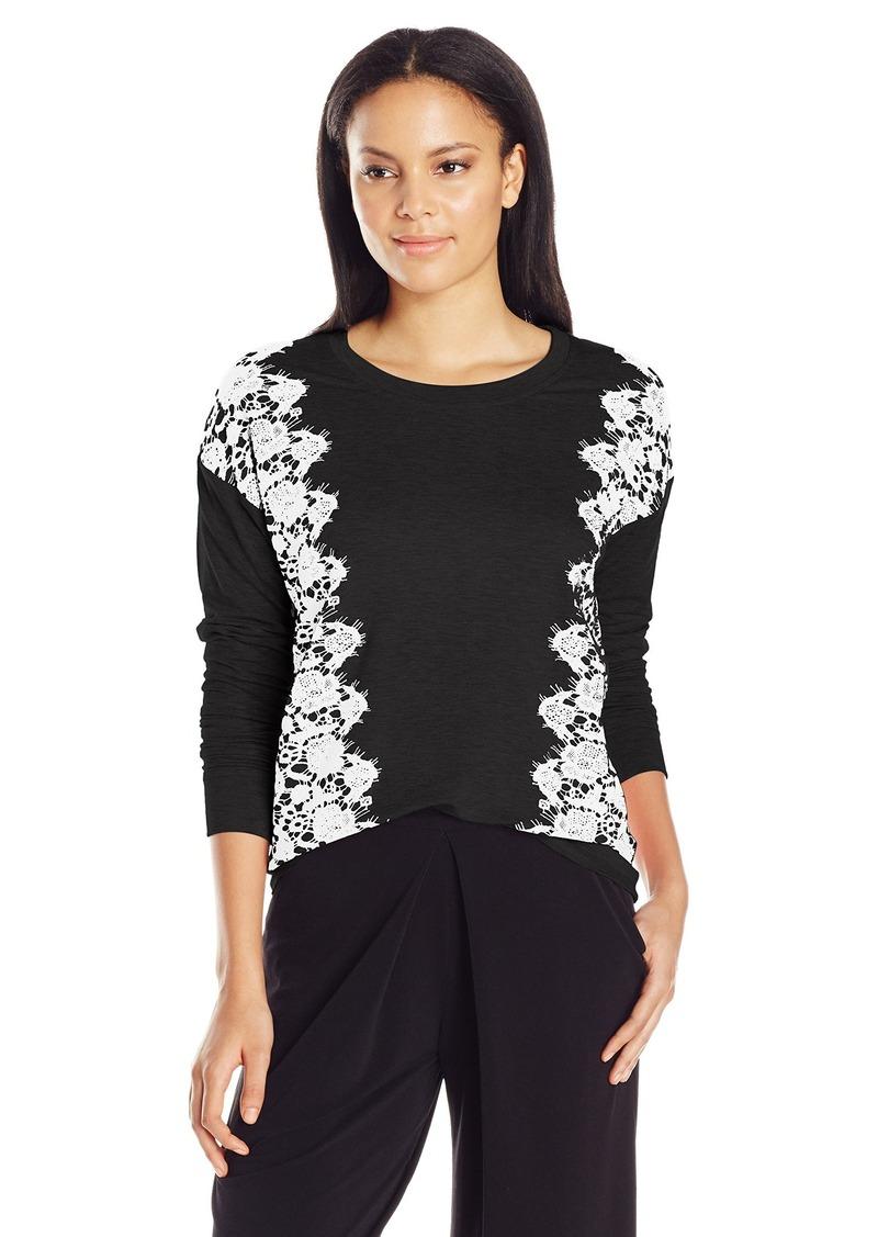 Kensie Women's Lace Print Sweatshirt