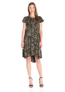 kensie Women's Laser Tie-Dye Dress