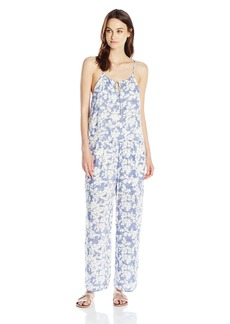 kensie Women's Layered Orchids Jumpsuit