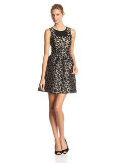 Kensie Women's Leopard Jacquard Dress