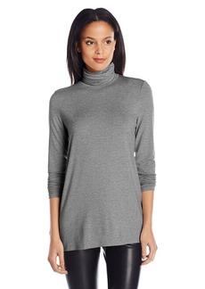 Kensie Women's Light Weight Long Sleeve Turtleneck Top