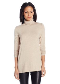 Kensie Women's Light Weight Long Sleeve Turtleneck Top