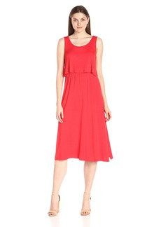 Kensie Women's Light Weight Viscos Spandex Midi Dress