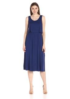 kensie Women's Light Weight Viscos Spandex Midi Dress