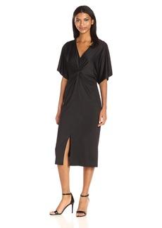 kensie Women's Lightweight Viscose Jersey Dress  L