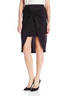 kensie Women's Lightweight Viscose Jersey Skirt  L