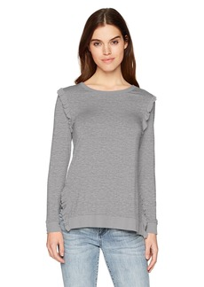 kensie Women's Lightweight Viscose Spandex Top Heather ash M
