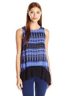 Kensie Women's Linear Ikat Top