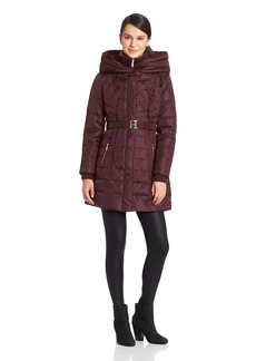Kensie Women's Long Down Coat with Hood