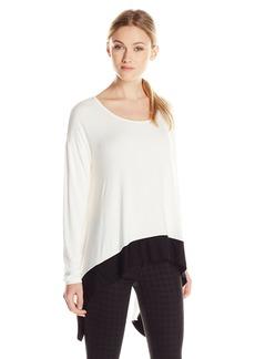 Kensie Women's Long Sleeve Color Block Top  Small