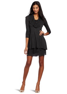 Kensie Women's Long-Sleeve Sheer Dress