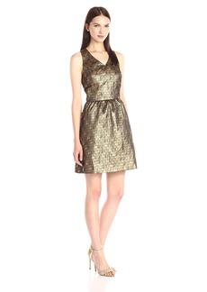 Kensie Women's Lurex Houndstooth Dress