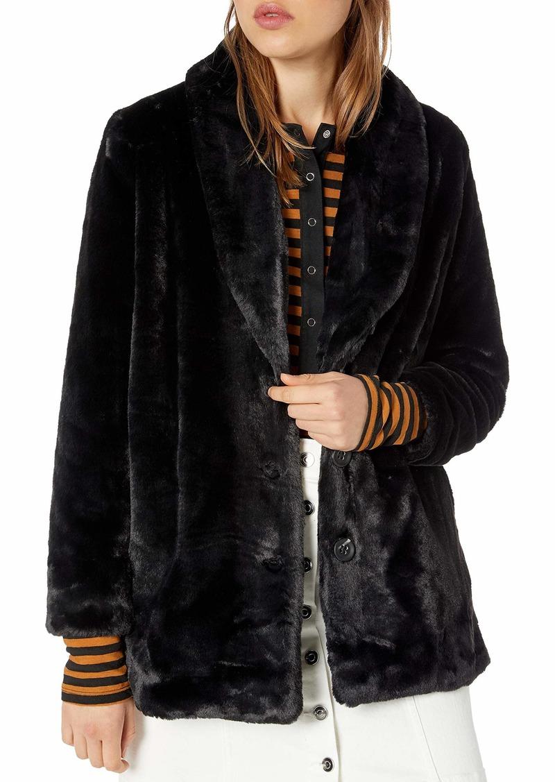 kensie Women's Luxe Fur Jacket