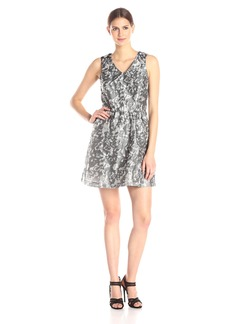 Kensie Women's Marble Brocade Dress