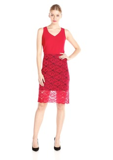 Kensie Women's Matte Lace Dress