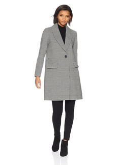kensie Women's Mid Length Straight Coat
