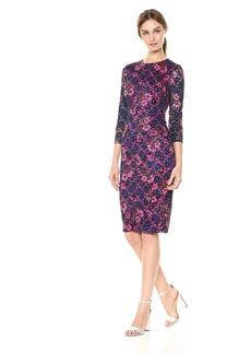 kensie Women's MIDI Floral LACE Dress