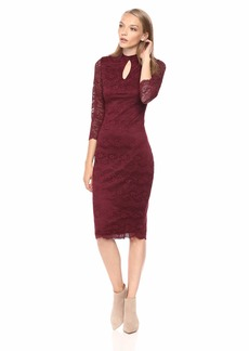 kensie Women's MIDI LACE Dress