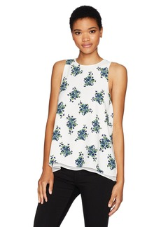 kensie Women's Mini Bouquet Floral Design Sleeveless Top  XL