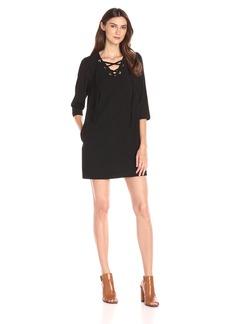 Kensie Women's Mini Checker Crepe Dress