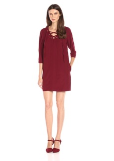 kensie Women's Mini Checker Crepe Dress