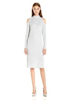 Kensie Women's Mixed Rib Cold Sholder Dress  XS