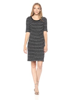 kensie Women's Mixed Rib Dress  S