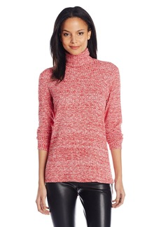 Kensie Women's Mixed Rib Turtleneck Tunic Top