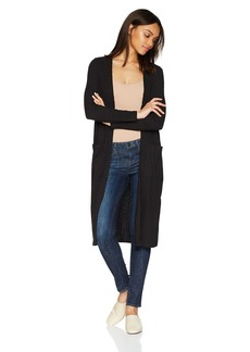 kensie Women's Mixed Slub Rib Cardigan  L