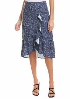 kensie Women's Nostalgic Blooms Midi Skirt