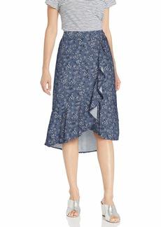 kensie Women's Nostalgic Blooms Midi Skirt  Extra Large