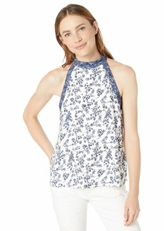 kensie Women's Nostalgic Blooms Top  Extra Small