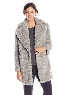 kensie Women's Notch-Collar Faux-Fur Coat
