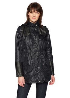 kensie Women's Nylon Anorak Jacket