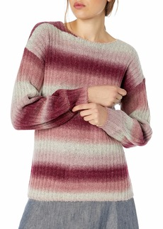 kensie Women's Ombre Fuzzy Knit Sweater  Extra Small