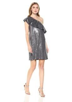 Kensie Women's One Shoulder Sequin Dress  M