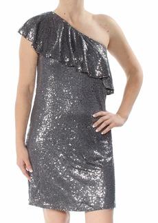 kensie Women's One Shoulder Sequin Dress  S
