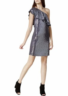 kensie Women's One Shoulder Sequin Dress  XL