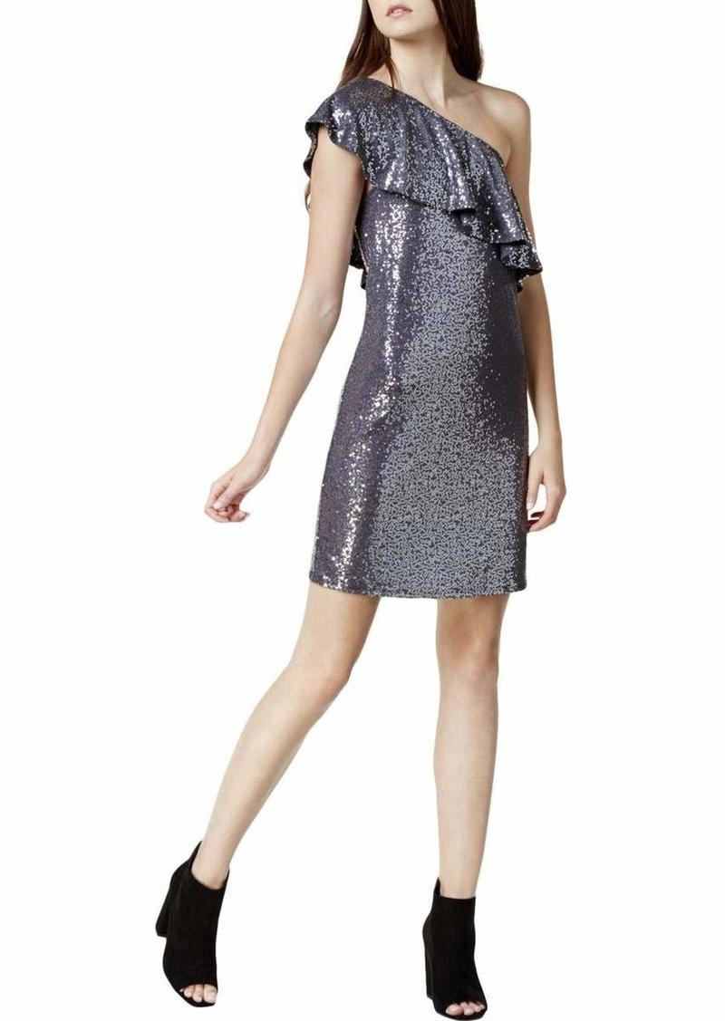 kensie Women's One Shoulder Sequin Dress  XL