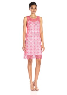 kensie Women's Open Floral Lace Dress