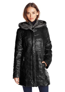 kensie Women's Packable Down Coat with Hood