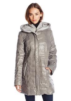kensie Women's Packable Down Coat with Hood