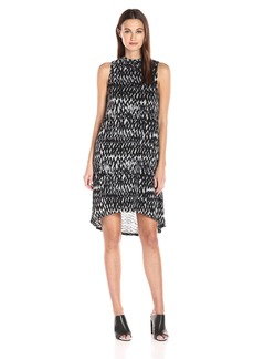 Kensie Women's Painted Zig Zag Dress  XL