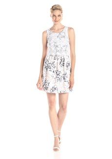 kensie Women's Palm Leaves Printed Sleeveless Dress