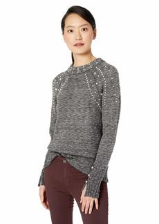 kensie Women's Pearl Embellished Sweater  L