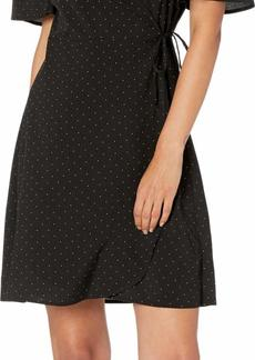 kensie Women's Pin Dot Wrap Dress  L