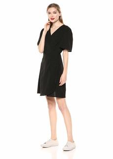 kensie Women's Pin Dot Wrap Dress  M