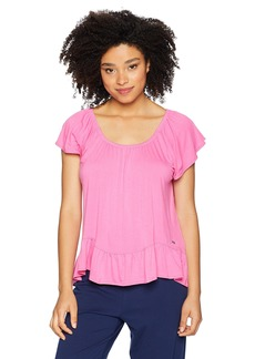 kensie Women's PJ TOP S/S hot Pink XS