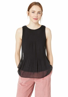 kensie Women's Pleated Chiffon Top  XS